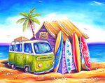 5D DIY Diamond Painting Kits Cross Stitch Seaside Bus VM92270