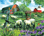 5D DIY Diamond Painting Kits Mosaic Art Sheep Group VM92274