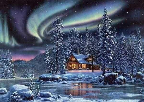 5D DIY Diamond Painting Kits Cross Stitch Snow Forest Scenic VM92291