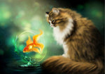 2019 5D DIY Diamond Painting Cat Fish VM92318
