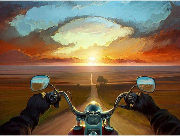 5D DIY Diamond Painting Kits Special Motorcycle Travel NA0751