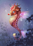 5D Diy Diamond Painting Kits Cartoon Seahorse NA10360