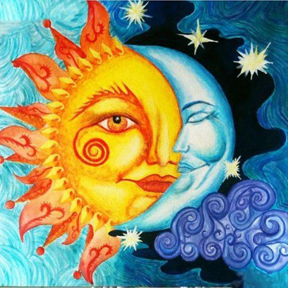2019 5D DIY Diamond Painting Kits Sun And Moon Pattern VM92341