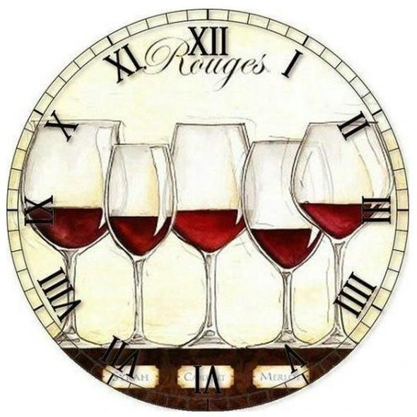 5D DIY Diamond Painting Kits Special Wine Clock  NB0160