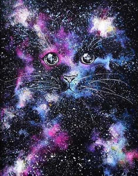 2019 5D DIY Diamond Painting Kits Starry Sky Cat VM92352