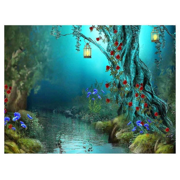 5d Diy Diamond Painting Kits Beautiful Forest Af9595