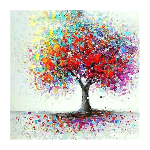 5d Diy Diamond Painting Art Kits Colorful Tree AF9559