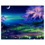 5D DIY Diamond Painting Kits Watercolor Beautiful Quiet Night AF9584
