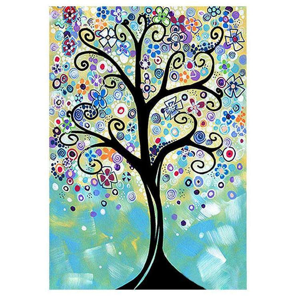 5D Diamond Painting Kits Cartoon Styles Tree AF9576