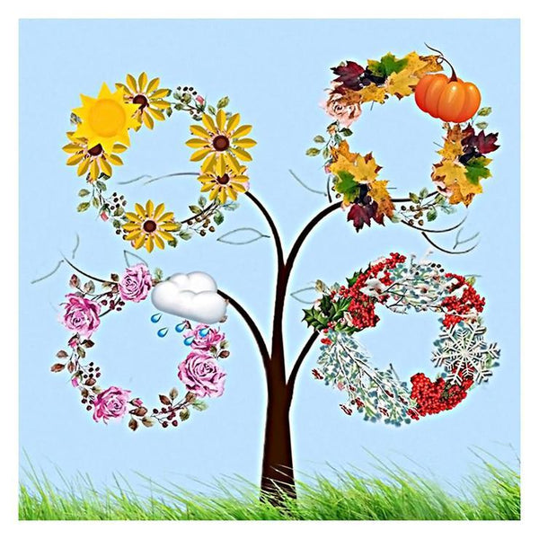 5D DIY Diamond Painting Kits Warm Sweet Various Sizes Tree AF9556