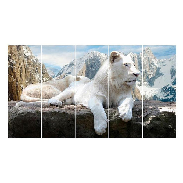 Multi Panel Lion Embroidery 5D DIY Full Drill Diamond Painting Kits QB8023