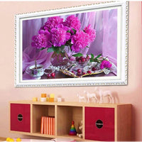 2019 5d Diy Diamond Painting Kits Purple Peony VM1996 (1766972031066)
