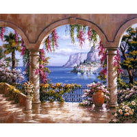 2019 5D DIY Diamond Painting Kits Landscape Seaside Garden VM5016