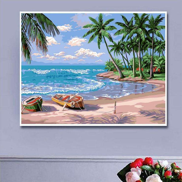 Home Decorate Oil Painting Styles Beach Summer Diamond Painting Kits AF9029