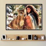 Modern Art Styles Pretty Beauty And Animal Diamond Painting Kits AF9371
