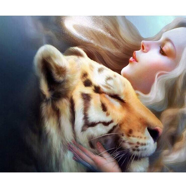 5d Diy Diamond Painting Kits Beauty And Tiger AF9333