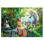 Popular Fantasy Styles Beauty And unicorn Diamond Painting Kits AF9373