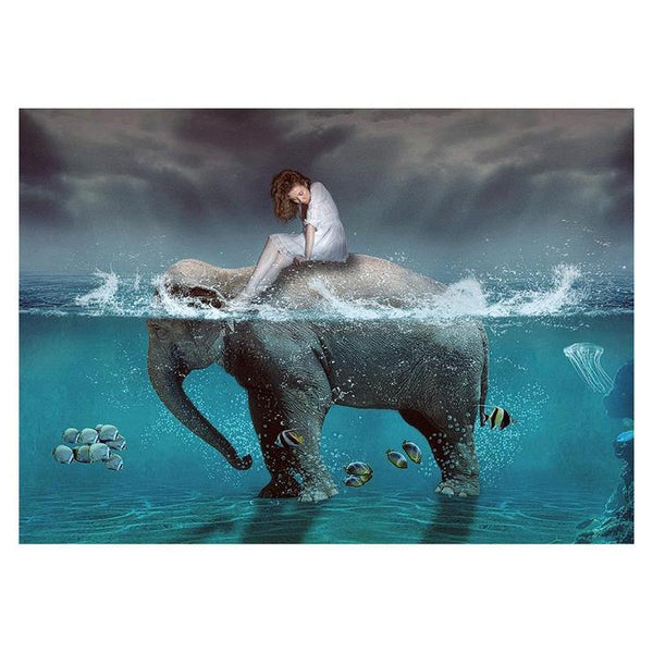 Fantasy Styles Hot Sale Beauty and Elephant Diamond Painting Kits AF9380