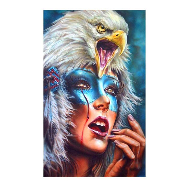 Modern Art Styles Cheap Beauty And Eagle Diamond Painting Kits AF9388