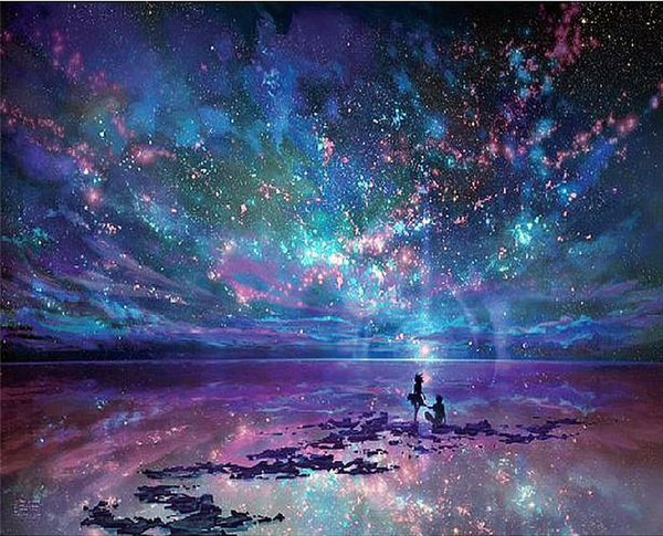 5d Diamond Painting Night Starry Sky Landscape VICM1034 (1766931988570)