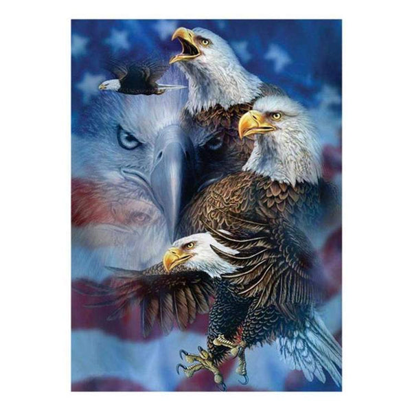 Hot Sale Super Cool Eagle Diamond Painting Kits Af9738