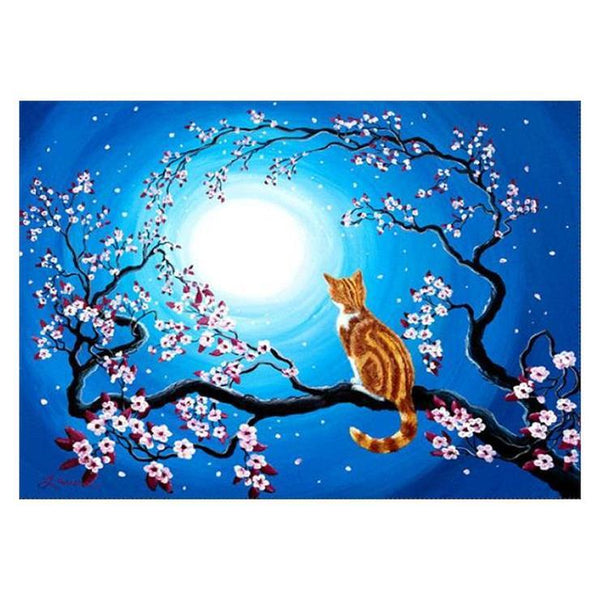 2019 5d Diy Diamond Painting Kits Cat On The Tree VM0025 (1766926385242)