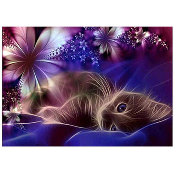 2019 5d Diy  Diamond Painting Kits  Dream dark cat VM0041 (1766926516314)