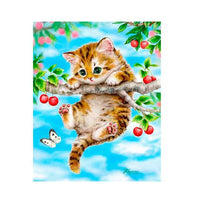 New Hot Sale Lovely Kitten On Tree Diamond Painting Cross Stitch Kits VM0059 (1766926876762)