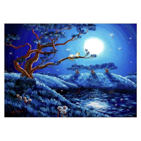 2019 5d Diy Crystal Diamond Painting Kits Cat On The Tree VM0024 (1766925631578)