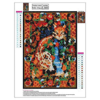 New Arrival Dream Cat And Flowers Diy 5d Cross Stitch Diamond Painting Kits VM0072 (1766924714074)
