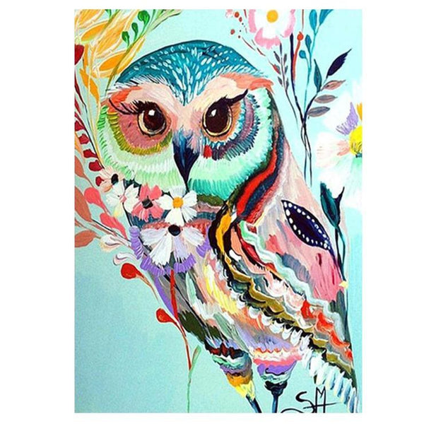 Modern Art Styles Watercolor Owl Diamond Painting Kits AF9241