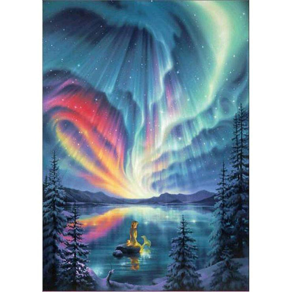Hot Sale Fantasy Styles Dreamy Blue Starry Sky Diamond Painting Kits  AF9676