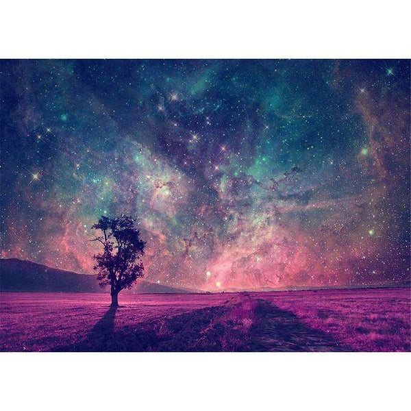 5d Diy Diamond Painting Idea Pretty Blue&Pink Starry Sky AF9680