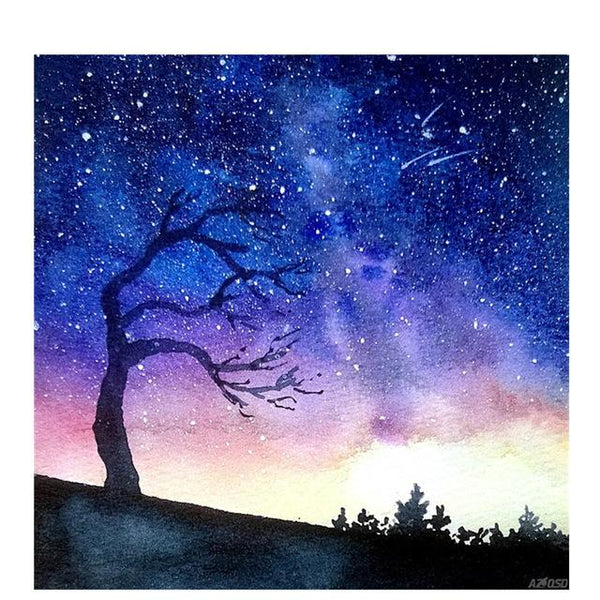 Modern Art Styles Cool Blue  starry sky Diamond Painting Kits AF9621