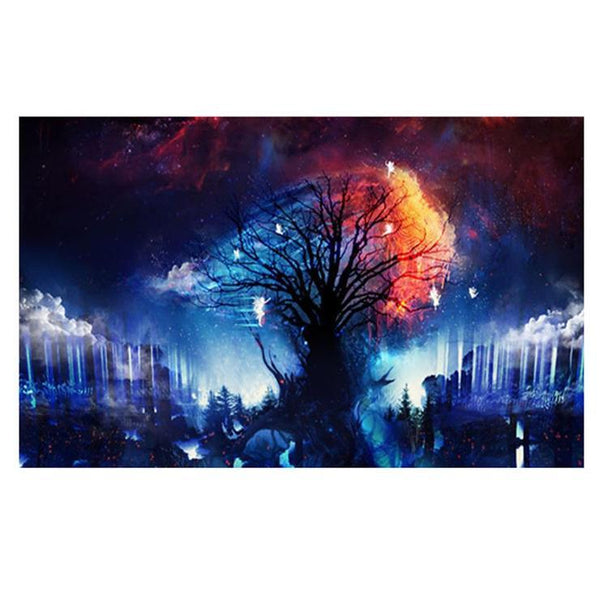 Kids Gift Fantasy Styles Pretty Tree Under Starry Sky Diamond Painting Kits Af9638