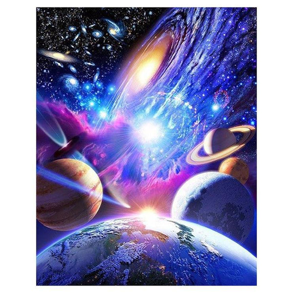 Fantasy Styles Pretty Colorful Starry Sky  Diamond Painting Kits AF9645