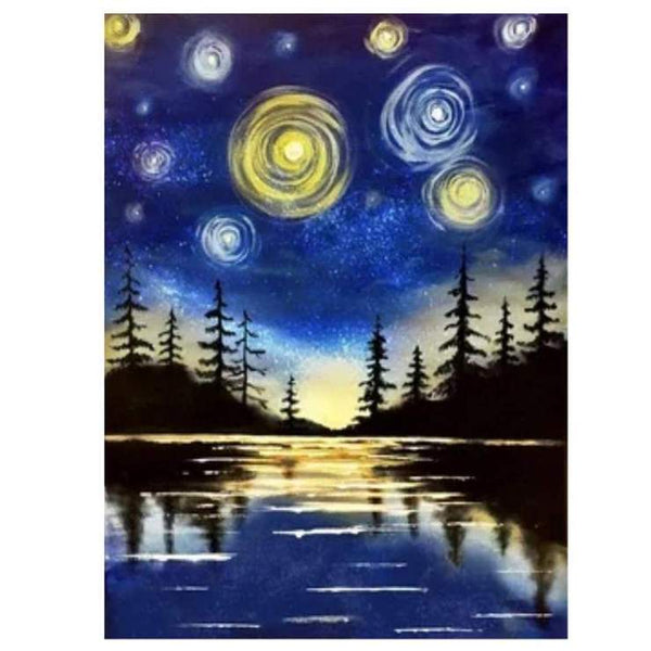Modern Art Styles Various Sizes Starry Sky Diamond Painting AF9654