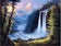 Hot Sale Oil Painting Styles Mountain Waterfalls Diamond Painting Kits AF9393
