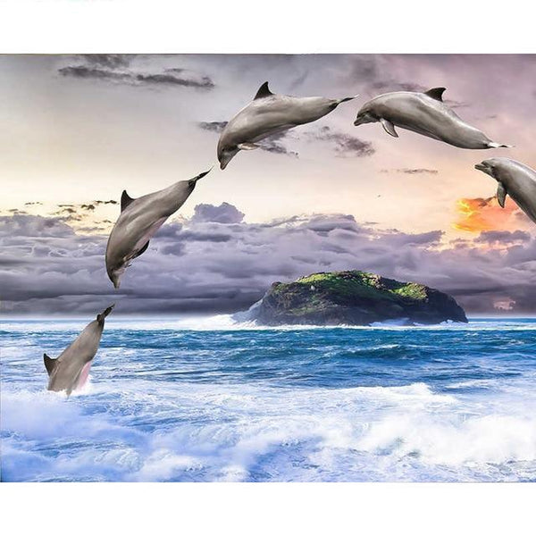 2019 5d Diy Diamond Painting Kits Cute Dolphins VM7432