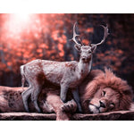2019 5D DIY Diamond Painting Kits Deer Lion VM7423