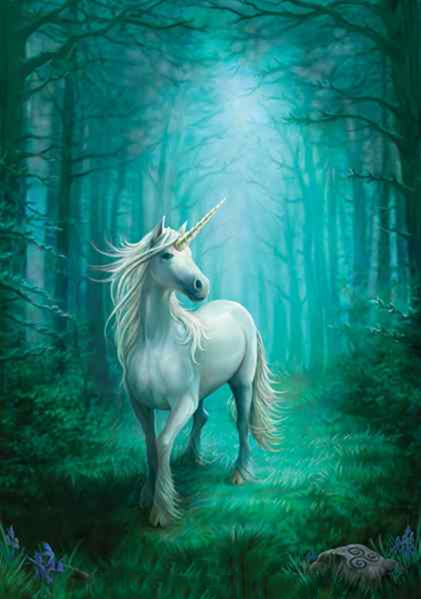 5D DIY Diamond Painting Kits White Unicorn VM92378