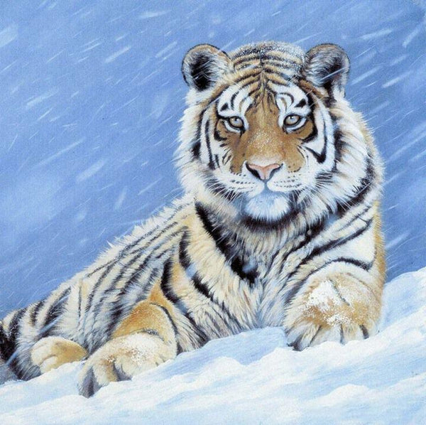 2019 5D DIY Diamond Painting Tiger Embroidery Kits VM92384