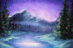 2019 5D DIY Diamond Painting Kits Winter Sky Mountain VM92392