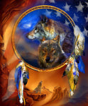 2019 5d Diy Diamond Painting Kits Wolf Dream Catcher Picture VM9978