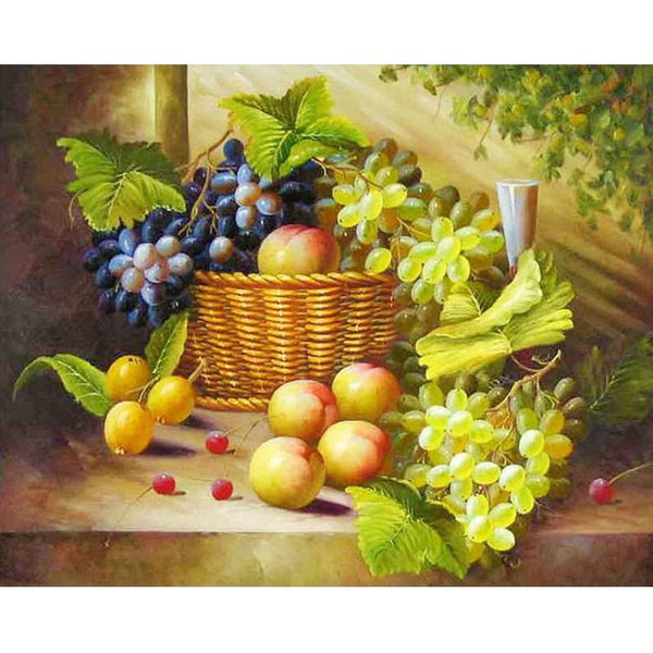 New Fruit Basket Drill 5D DIY Embroidery Cross Stitch Diamond Painting Kits NB0012