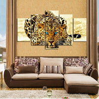 5pcs 5D DIY Diamond Painting Embroidery Cross Stitch Kits Leopard VM90523