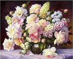2019 5d Diy Diamond Painting Kits Peony Flowers Square VM9449