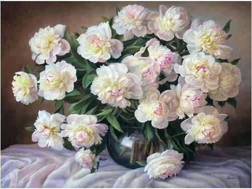 Hot Sale Peony Flowers 5d Diy Diamond Painting Kits VM9445