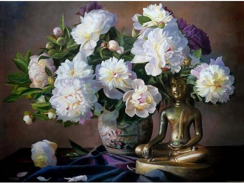 2019 5d Diy Diamond Painting Kits Peony Flowers Buddha VM9437