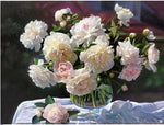 2019 5d Diy Square Diamond Painting Kits Peony Flowers VM9435